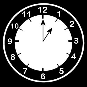 1 .o clock