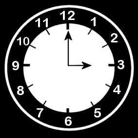 3 .o clock