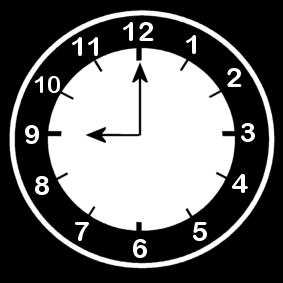 9 .o clock
