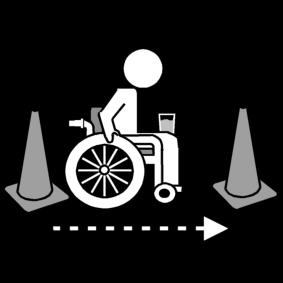 Wheelchair water cones