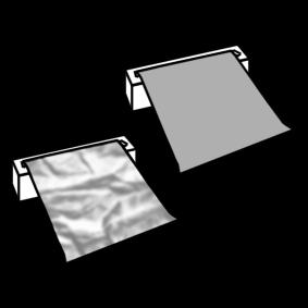 aluminum foil and baking paper