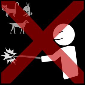 animals hit by stick